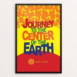 "Journey to the Center of the Earth by Robert Wallman 12"" by 18"" Print / Framed Print Recovering the Classics"
