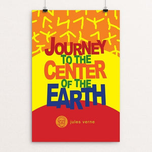 "Journey to the Center of the Earth by Robert Wallman 12"" by 18"" Print / Unframed Print Recovering the Classics"