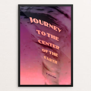 "Journey to the Center of the Earth by Vivian Chang 12"" by 18"" Print / Framed Print Recovering the Classics"