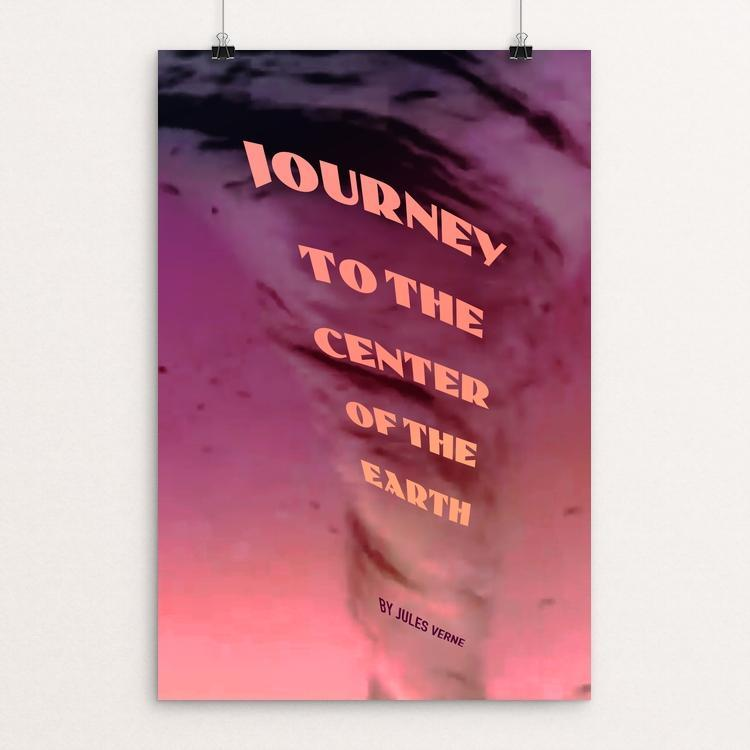 "Journey to the Center of the Earth by Vivian Chang 12"" by 18"" Print / Unframed Print Recovering the Classics"