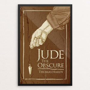 "Jude the Obscure by Brixton Doyle 12"" by 18"" Print / Framed Print Recovering the Classics"