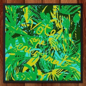"Jungle Vote by Louise Norman 12"" by 12"" Print / Framed Print Vote the Environment"