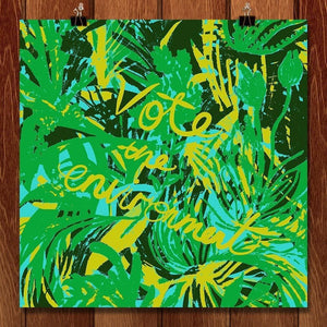 "Jungle Vote by Louise Norman 12"" by 12"" Print / Unframed Print Vote the Environment"