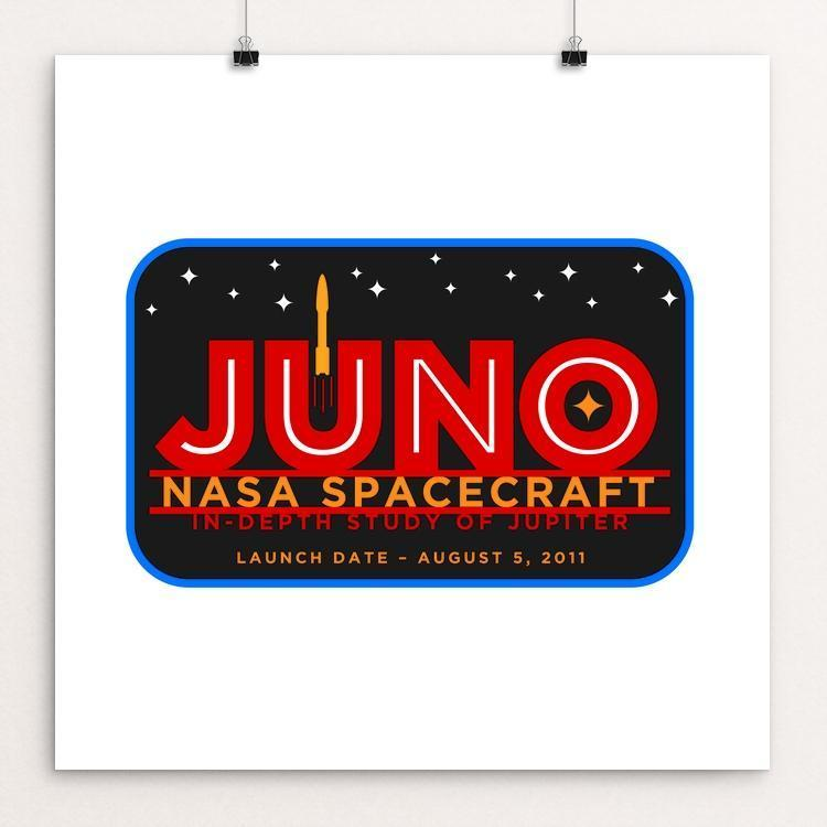 "Juno by Jon Briggs 12"" by 12"" Print / Unframed Print Space Horizons"