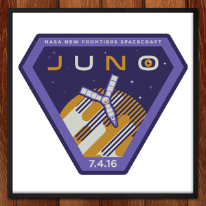 "Juno. July 4, 2016 by John Cheng 12"" by 12"" Print / Framed Print Space Horizons"