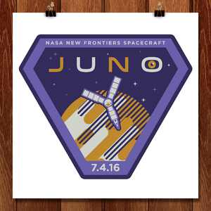 "Juno. July 4, 2016 by John Cheng 12"" by 12"" Print / Unframed Print Space Horizons"