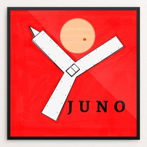 "Juno Probe by Ginnie McKnight 12"" by 12"" Print / Framed Print Space Horizons"