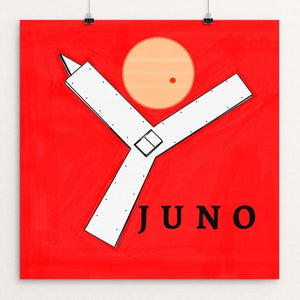 "Juno Probe by Ginnie McKnight 12"" by 12"" Print / Unframed Print Space Horizons"