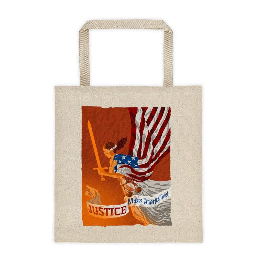 Justice Tote Bag by Brixton Doyle Tote Bag What Makes America Great