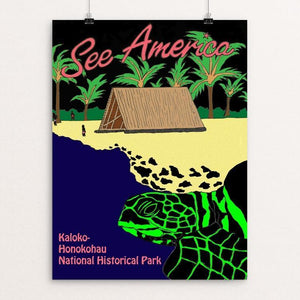 "Kaloko-Honokohau National Historical Park by Joshua Sierra 12"" by 16"" Print / Unframed Print See America"