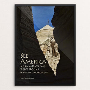 "Kasha-Katuwe Tent Rocks National Monument 2 by Jane Rohling 12"" by 16"" Print / Framed Print See America"
