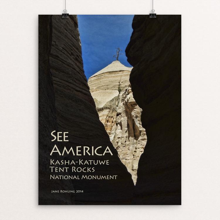 "Kasha-Katuwe Tent Rocks National Monument 2 by Jane Rohling 12"" by 16"" Print / Unframed Print See America"