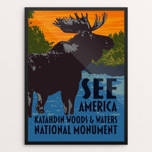 "Katahdin Woods & Waters National Monument by Mark Forton 12"" by 16"" Print / Framed Print See America"