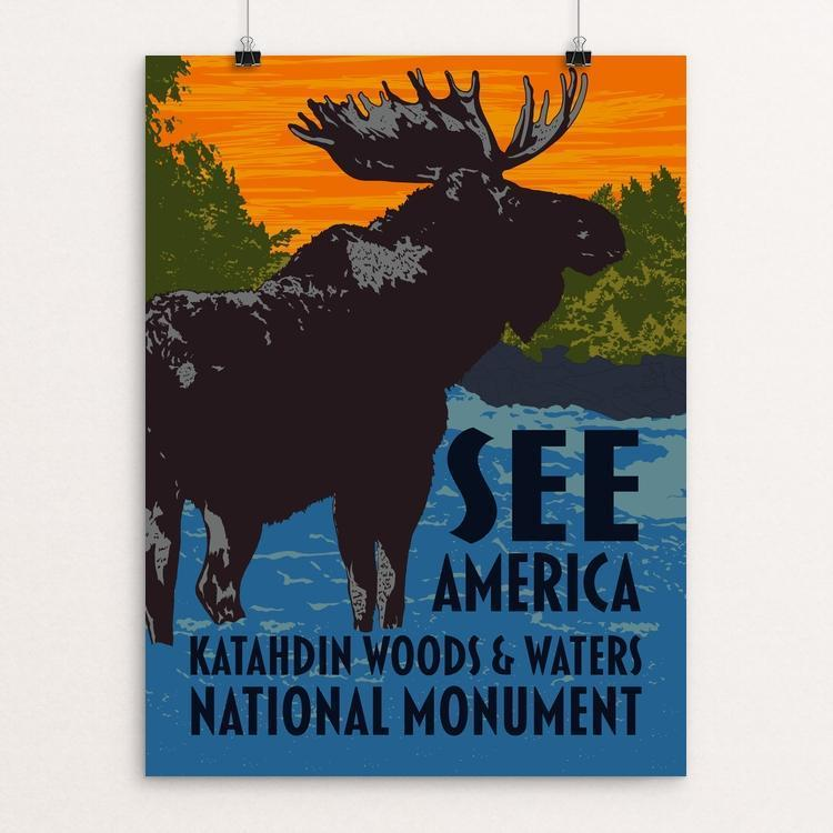 "Katahdin Woods & Waters National Monument by Mark Forton 12"" by 16"" Print / Unframed Print See America"