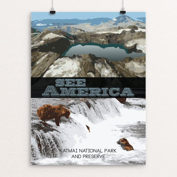 "Katmai National Park and Preserve by Leonardo Priego 12"" by 16"" Print / Unframed Print See America"