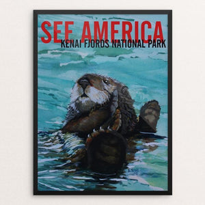 "Kenai Fjords National Park -- Sea Otter by Bruce and Scott Sink 12"" by 16"" Print / Framed Print See America"