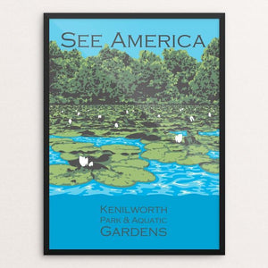"Kenilworth Park and Aquatic Gardens by Candy Medusa 12"" by 16"" Print / Framed Print See America"