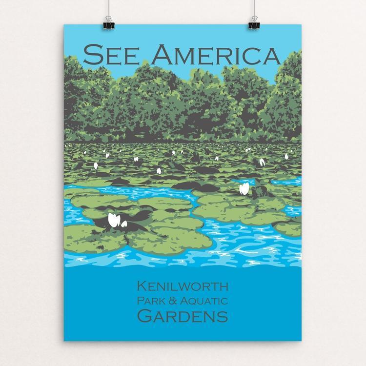 "Kenilworth Park and Aquatic Gardens by Candy Medusa 12"" by 16"" Print / Unframed Print See America"