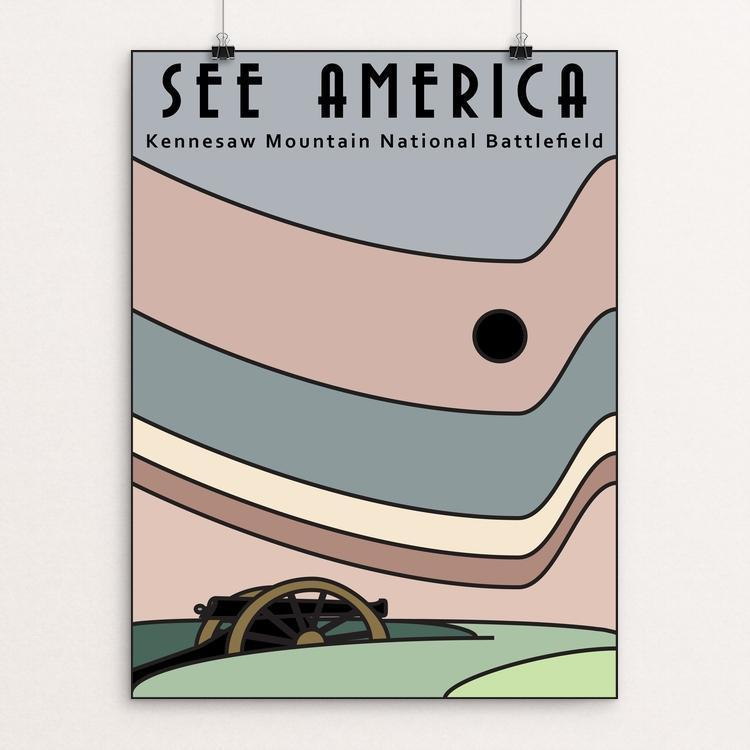 "Kennesaw Mountain National Battlefield by Grace Hagemann 12"" by 16"" Print / Unframed Print See America"