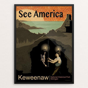 "Keweenaw National Historical Park by Mike Stockwell 12"" by 16"" Print / Framed Print See America"
