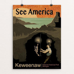 "Keweenaw National Historical Park by Mike Stockwell 12"" by 16"" Print / Unframed Print See America"