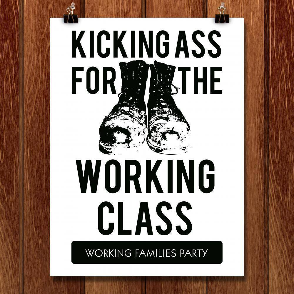 "Kicking Ass by Rafael Shimunov 18"" by 24"" Print / Unframed Print Working Families P(ART)Y"