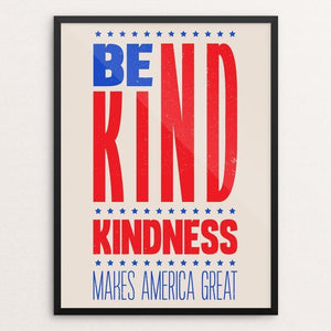 "Kindness by Roberlan Paresqui 12"" by 16"" Print / Framed Print What Makes America Great"
