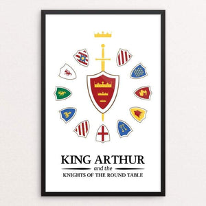 "King Arthur and the Knights of the Round Table by Jeremy King 12"" by 18"" Print / Framed Print Recovering the Classics"