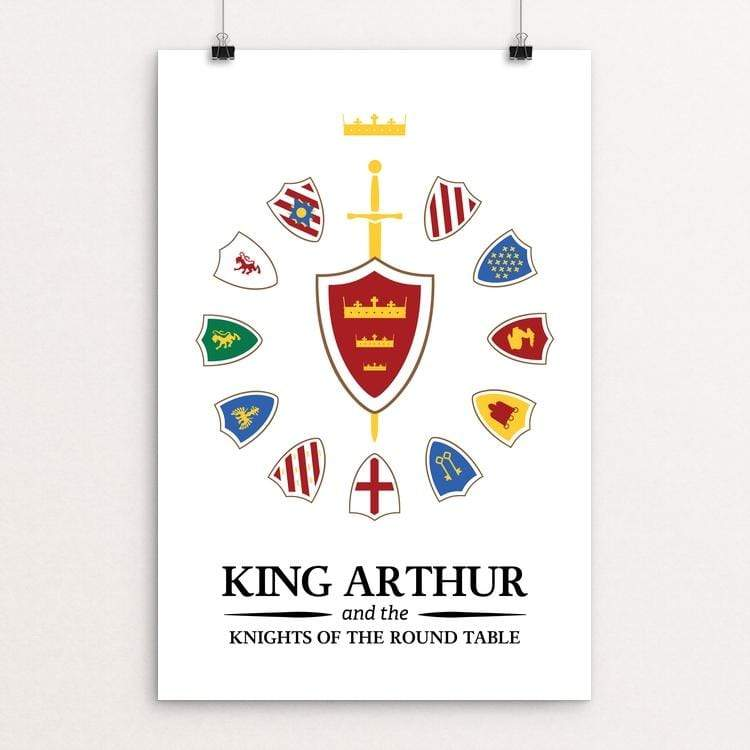 "King Arthur and the Knights of the Round Table by Jeremy King 12"" by 18"" Print / Unframed Print Recovering the Classics"
