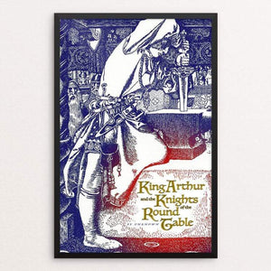 "King Arthur and the Knights of the Round Table by Vivian Chang 12"" by 18"" Print / Framed Print Recovering the Classics"