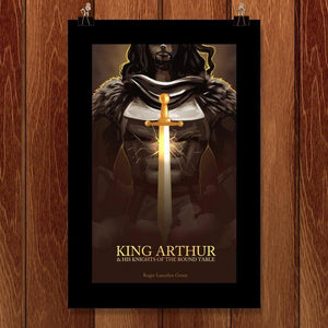 "King Arthur by Amber Peoples 12"" by 18"" Print / Unframed Print Recovering the Classics"