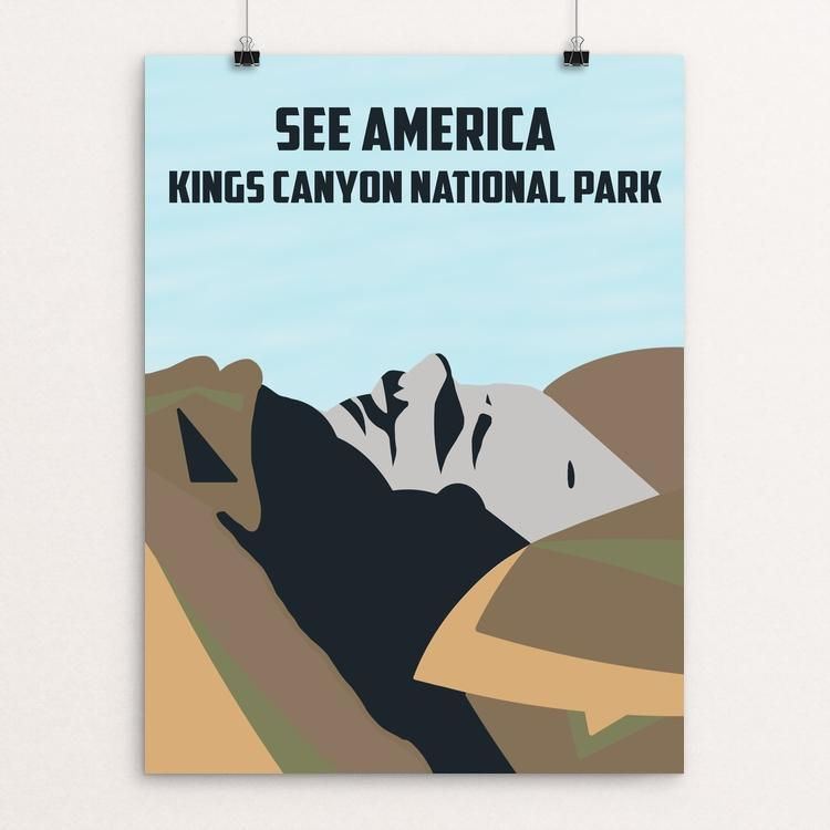 "Kings Canyon National Park by Christian Tidwell 12"" by 16"" Print / Unframed Print See America"