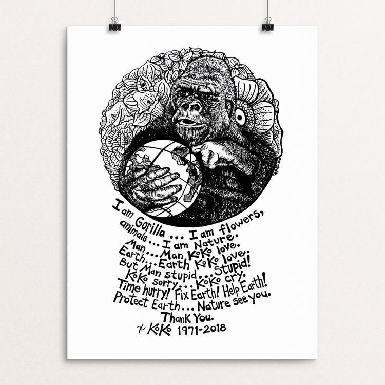 "Koko Tribute Drawing by Rick Frausto 12"" by 16"" Print / Unframed Print Creative Action Network"