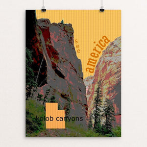 "Kolob Canyons, Zion National Park by Jessica Lamborn 12"" by 16"" Print / Unframed Print See America"