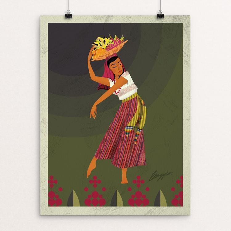 "La Vendedora by Baggio Ardon 12"" by 16"" Print / Unframed Print Creative Action Network"