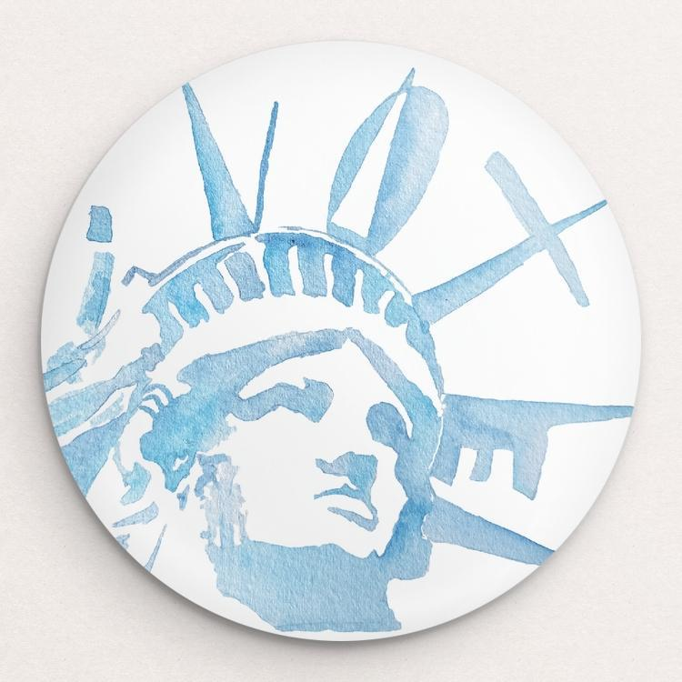 Lady Liberty Button by Courtney Capparelle Single Buttons Vote!