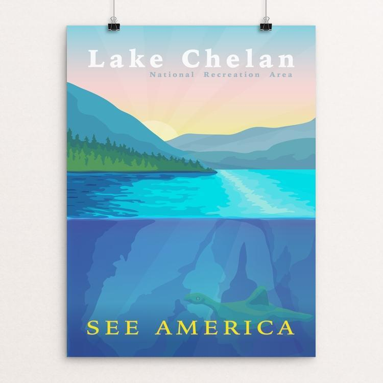 "Lake Chelan National Recreation Area by Ryan Feddersen 12"" by 16"" Print / Unframed Print See America"