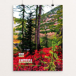 "Lake Chelan-Sawtooth Wilderness by Dan Burwell 12"" by 16"" Print / Unframed Print See America"