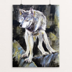 "Lakota, omega wolf by Mary StGeorge 12"" by 16"" Print / Unframed Print Join the Pack"