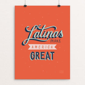 "Latinas by Maria Castro 12"" by 16"" Print / Unframed Print What Makes America Great"