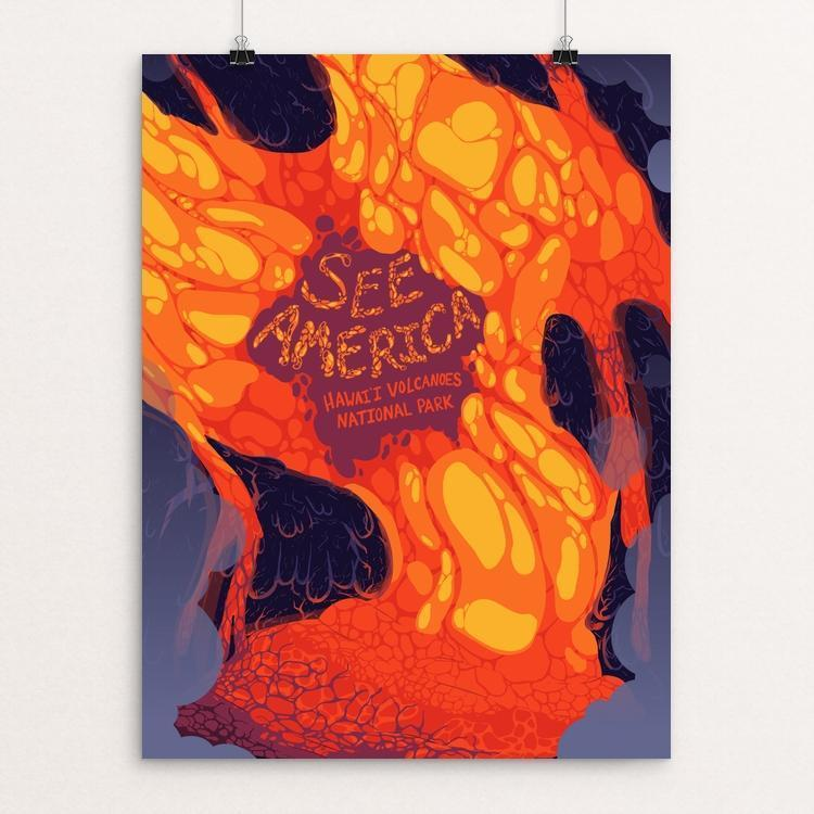 "Lava Flow by Katie Kehoe 12"" by 16"" Print / Unframed Print See America"