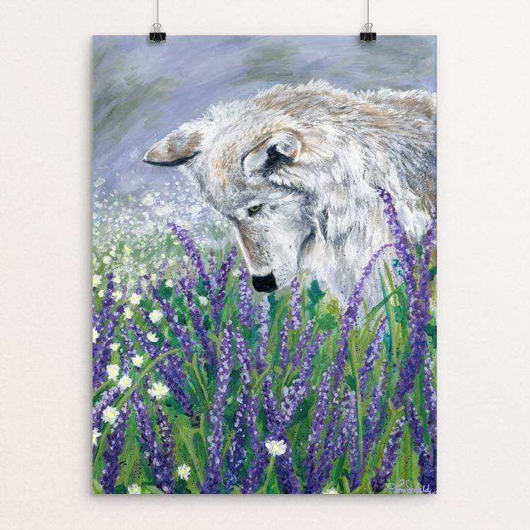 "Lavender Wolf by Tina Schofield 18"" by 24"" Print / Unframed Print Join the Pack"