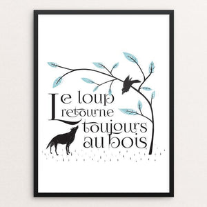 "Le Loup Retourne by Ray Wan 18"" by 24"" Print / Framed Print Join the Pack"