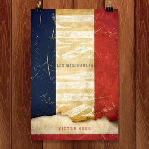"Les Miserables by Jon Cain 12"" by 18"" Print / Unframed Print Recovering the Classics"
