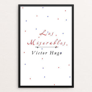 "Les Miserables by Medeea Iancu 12"" by 18"" Print / Framed Print Recovering the Classics"