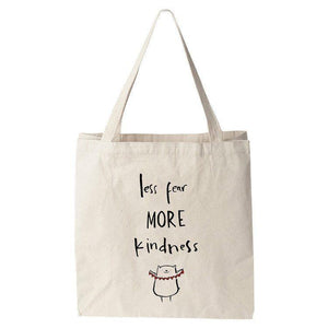 Less Fear More Kindness Tote Bag by Juana Medina Tote Bag The Gun Show