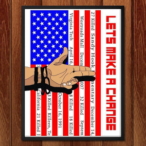 "Lets Make A Change by Joshua Hayden 18"" by 24"" Print / Framed Print The Gun Show"