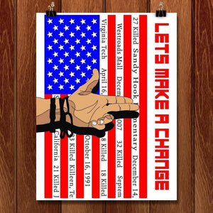 "Lets Make A Change by Joshua Hayden 18"" by 24"" Print / Unframed Print The Gun Show"