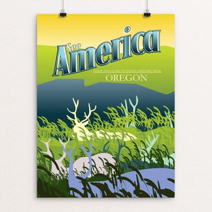 "Lewis and Clark National Historic Trail by Ian Wells 12"" by 16"" Print / Unframed Print See America"