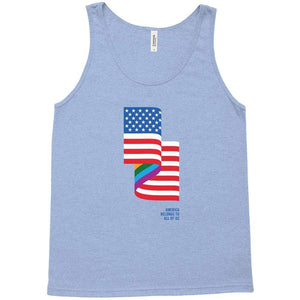LGBT American Flag Tank Top by Jackie Lay